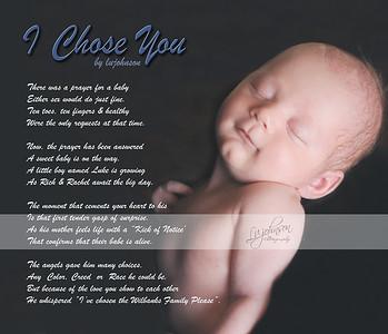 I Chose You  . Newborn Poem