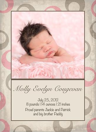 Molly birthannouncement 5x7