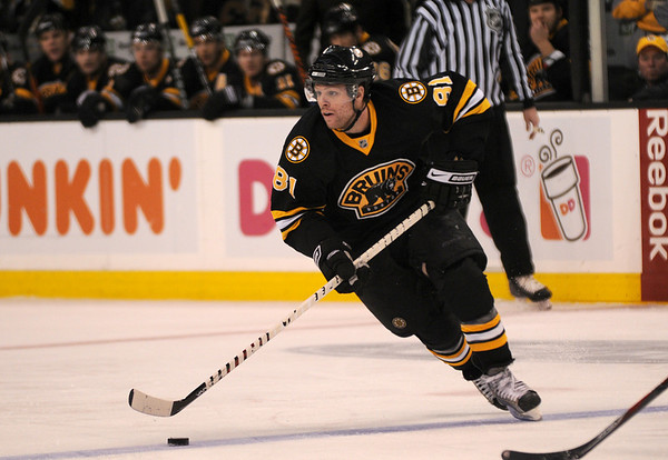 Boston: Bruins forward Phil Kessel (81). Photo by Ben Laing/Newburyport Daily News Saturday November 29, 2008.
