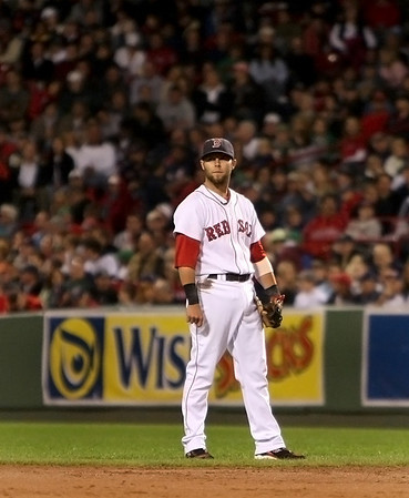 Boston: Red Sox second baseman Dustin Pedroia. Photo by Ben Laing/Newburyport Daily News September 22, 2008.