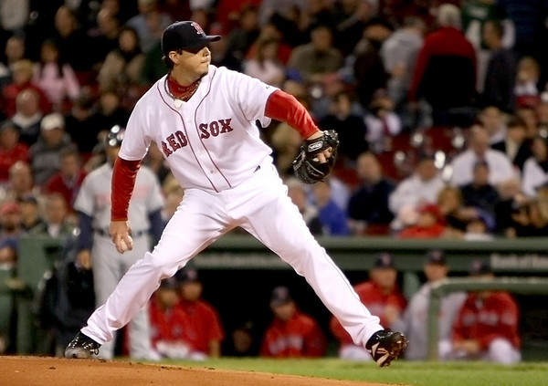 Boston: Red Sox ace Josh Beckett. Photo by Ben Laing/Newburyport Daily News September 22, 2008.