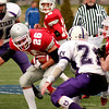 Waltham: Junior running back Jesse Burrell (26) carries the ball for Amesbury during their 40-20 victory over Martha's Vineyard for the state championship. Photo by Ben Laing/Newburyport Daily News Saturday December 6, 2008.