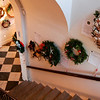 Newburyport: The Customs House is ready for their annual Christmas Wreath Auction. With over 50 wreaths hung throughout the museum, there are plenty to choose from. Passerbys can stop in for free at any time to check out the wreaths and place a bid. Photo by Ben Laing/Newburyport Daily News Wednesday December 3, 2008.
