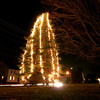West Newbury: West Newbury's Christmas Tree was officially lit up for the holiday season Monday night. The tree is located at the Training Field on Main Street. Photo by Ben Laing/Newburyport Daily News Monday December 1, 2008.
