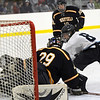 Byfield: Triton's Keegan Howes (8) gets a shot on Lynnfield's goalie Craig Cataldo (29) during the second period of Monday's game at Governor's Academy. Photo by Ben Laing/Newburyport Daily News Monday December 22, 2008.