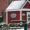 Newburyport: Santa's Workshop sits abandonded as the latest snow storm rolled into town Friday afternoon. Photo by Ben Laing/Newburyport Daily News Friday December 19, 2008.