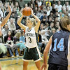 West Newbury: Pentucket's Emily Lane (3) looks to make a pass during Monday's game at home against Triton. Photo by Ben Laing/Newburyport Daily News Monday December 22, 2008.