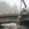 Newbury: Work progresses on the Park River Bridge. Photo by Ben Laing/Newburyport Daily News Monday December 1, 2008.