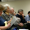 Newbury: Local residents gather at the Newbury Fire Hall to discuss the situation of erosion on Plum Island. Photo by Ben Laing/Newburyport Daily News Wednseday December 3, 2008.