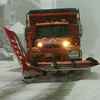 Newburyport:<br /> A snow plow heads up Winter Street in Newburyport during the middle of yesterday's snowstorm.<br /> Photo by Bryan Eaton/Newburyport Daily News Wednesday, December 31, 2008