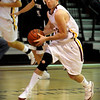 Newburyport:<br /> Clipper's Ian Wetherbee moves down court against Triton last night.<br /> Photo by Bryan Eaton/Newburyport Daily News Tuesday, December 16, 2008