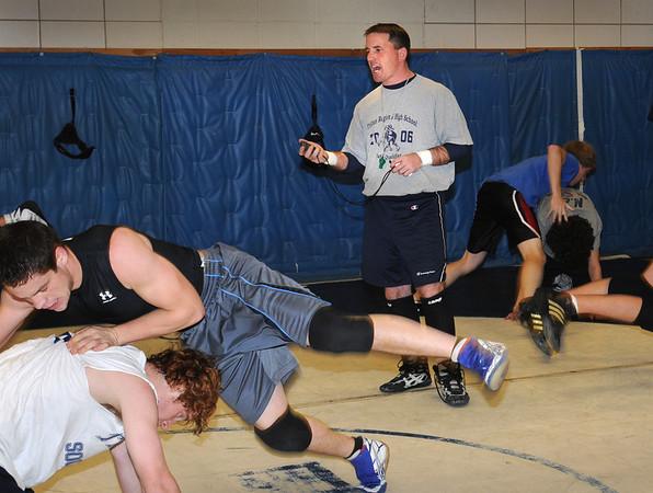 Newbury:<br /> Triton High wrestling coach Shawn McElligott.<br /> Photo by Bryan Eaton/Newburyport Daily News Friday, December 05, 2008