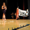Amesbury:<br /> Megan Barrett walks down the runway a Amesbury Middle School while showing off her dress. Students have been creating fashion outfits all semester in Susan Olsen's art classes.<br /> Photo by Bryan Eaton/Newburyport Daily News Thursday, December 18, 2008