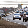 Salisbury:<br /> With the Hines Bridge closed, heavier traffic heading into Salisbury from Newburyport make it tougher for vehicles turning left to go to Newburyport, like pickup truck at left.<br /> Photo by Bryan Eaton/Newburyport Daily News Tuesday, December 09, 2008