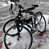 Newburyport:<br /> Yesterday was not a day to ride a bike, but two were chained to the bike rack at Liberty and State Streets.<br /> Photo by Bryan Eaton/Newburyport Daily News Wednesday, December 17, 2008