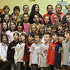 Newbury:<br /> Members of the Newbury Elementary School Chorus perform for fellow students at the annual Winter Concert to fellow students on Tuesday afternoon. They performed a second show for parents later in the evening.<br /> Photo by Bryan Eaton/Newburyport Daily News Tuesday, December 09, 2008