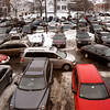 Newburyport:<br /> One car pulls out of a parking space as others look for a place to park in Newburyport's Green Street Lot on Christmas Eve Day.<br /> Photo by Bryan Eaton/Newburyport Daily News Wednesday, December 24, 2008