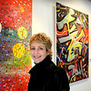Newburyport:<br /> Artist Tracy Bickel is displaying her collages at the Firehouse Center.<br /> Photo by Bryan Eaton/Newburyport Daily News Tuesday, December 30, 2008