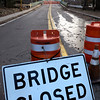 Amesbury:<br /> The Hines Bridge over the Merrimack River in Amesbury remains closed after a barge collided with the structure in November.<br /> Photo by Bryan Eaton/Newburyport Daily News Monday, December 29, 2008