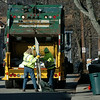 Amesbury:<br /> A waste disposal truck makes its rounds on Green Street in Amesbury.<br /> Photo by Bryan Eaton/Newburyport Daily News Monday, December 08, 2008