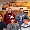 Newburyport:<br /> Returning Newburyport High hockey players, front, from left, Kevin Holmes, Kyle McElroy and Colin Cusack. Back, Derek and Dave Freeman.<br /> Photo by Bryan Eaton/Newburyport Daily News Wednesday, December 10, 2008
