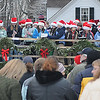 Newbury: The Newbury Elemetary School band performs  at the annual tree lighting on the Upper Green sunday..photo by Jim Vaiknoras/Newburyport Daily News. Sunday December 7, 2008