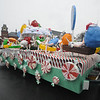 Merrimac:The cany themed float from Whittier rumbles through Merrimac Square in the annual Merrimac Santa Parade.photo by Jim Vaiknoras/Newburyport Daily News. Sunday December 7, 2008