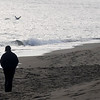 Salisbury: A woman walks with seagulls along the beach in Salisbury on a warm Sunday morning.photo by Jim Vaiknoras.Newburyport Daily News. Saturday December 27, 2008