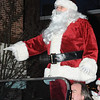 Amesbury:St Nick rides through Market Square in the Amesbury Santa Parade and Tree Lighting Saturday afternoon. photo by Jim Vaiknoras/Newburyport Daily News. Saturday December 6, 2008