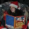 Amesbury:Ellie Esposito reads 'the night before Christmas' during the Amesbury Santa Parade and Tree Lighting Saturday afternoon. photo by Jim Vaiknoras/Newburyport Daily News. Saturday December 6, 2008