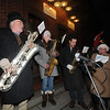 Amesbury:Ron Hoehn, Ester DeCarlo, Ron DeCarlo, and Greg Lions play carols at  the Amesbury Santa Parade and Tree Lighting Saturday afternoon. photo by Jim Vaiknoras/Newburyport Daily News. Saturday December 6, 2008