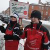 """Newburyport: """" and on every street corner you hear"""". Jack Brown, 10 and JC Taylor, 11, of  Newbury Cub Scout Pack 44 spent some time Saurday as Bellringers for the Salvation Army.photo by Jim Vaiknoras/Newburyport Daily News.Sunday December 21, 2008"""