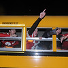 Amesbury:Member s of the Superbowl Champion Amesbury high football team ride through Market Square during the Amesbury Santa Parade and Tree Lighting Saturday afternoon. photo by Jim Vaiknoras/Newburyport Daily News. Saturday December 6, 2008