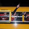 Amesbury:Member s of the Superbowl Champion Amesbury high football team ride through Market Square during the Amesbury Santa Parade and Tree Lighting Saturday afternoon. photo by Jim Vaiknoras/Newburyport Daily News. Saturday December 6, 2008