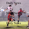 Newburyport: Senior capatin Tom Svirsky (9) nets the Clippers third and final goal of this header midway through the second half of Friday nights game against Marblehead.  With the 4-0 win Newburyport advances to the next round of the state tournament. Photo by Ben Laing/Newburyport Daily News Friday November 7, 2008.