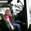 "Newbury: Shaelin Lombard, 4, of Newburyport, sits in the cockpit of a airplane at the Plum Island airfield Tuesday morning. Shaelin and other children were visiting the airfield as part of the Spencer-Pierce-Little Farm's ""Farm Friends""  program. Photo by Ben Laing/Staff Photo"