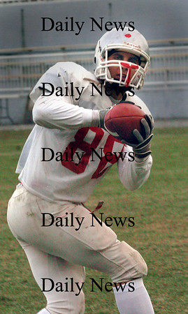 Amesbury:<br /> Amesbury's Steve Serwon in practice on Monday.<br /> Photo by Bryan Eaton/Newburyport Daily News Monday, November 24, 2008