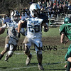 West Newbury:<br /> Triton's William Tindle runs to block for quarterback Sam Ferrara against Pentucket.<br /> Photo by Bryan Eaton/Newburyport Daily News Thursday, November 27, 2008