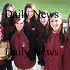 Newbury:<br /> Governor's Academy cross country stars, from left, Katy Haran, Kayla Jenson, Sarah Boone, Alison Travers, Alanna McDonough, Lindsay Mackay and Lindsay Grant.<br /> Photo by Bryan Eaton/Newburyport Daily News Wednesday, November 12, 2008