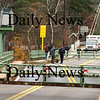 Amesbury:<br /> The swing span of the Hines Bridge couldn't completely close yesterday morning after a huge barge carrying an electrical transformer bumped the bridge on its way to the boat ramp in Amesbury.<br /> Photo by Bryan Eaton/Newburyport Daily News Thursday, November 13, 2008