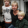 Amesbury:<br /> Diane Legg with sons Dean, 12, left, and Will, 5, with son Cole, 10 missing in photo.<br /> Photo by Bryan Eaton/Newburyport Daily News Wednesday, November 05, 2008