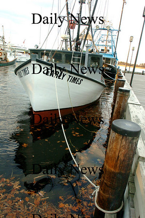 Newburyport:<br /> The handful of commercial fishing boats that make Newburyport their home base are back in the embayment area on the waterfront for the winter season where there's better protection in the winter. Photo by Bryan Eaton/Newburyport Daily News Tuesday, November 18, 2008