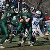 West Newbury:<br /> Pentucket's Jordan Silva hands off to Dan Johanson during Thanksgiving Day action with Triton.<br /> Photo by Bryan Eaton/Newburyport Daily News Thursday, November 27, 2008