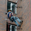 Newburyport:<br /> Newbury firefighter and EMT Robert Serino rappels off the back of the 8-story Sullivan Building in Newburyport. Local firefighters learned technical rescue techniques taught by the Massachusetts Firefighters Academy.<br /> Photo by Bryan Eaton/Newburyport Daily News Thursday, November 06, 2008