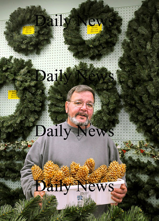 Salisbury:<br /> Tim Lamprey of Harbor Gardens stocks many Christmas items at his Salisbury store.<br /> Photo by Bryan Eaton/Newburyport Daily News Monday, November 17, 2008