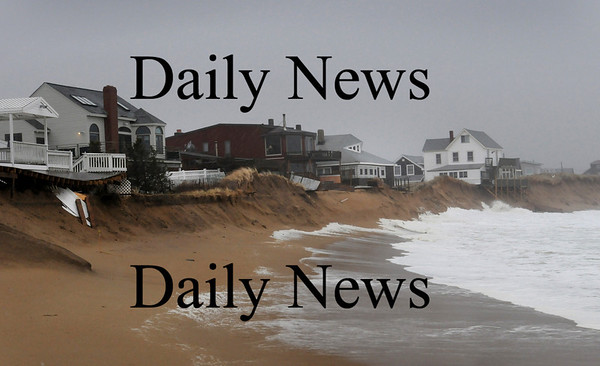 Newbury:<br /> View at Plum Island center taken during the storm on Tuesday, November 25.<br /> Photo by Bryan Eaton/Newburyport Daily News Wednesday, November 26, 2008