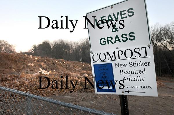 Amesbury:<br /> Amesbury's composting facility off Elm Street.<br /> Photo by Bryan Eaton/Newburyport Daily News Thursday, November 20, 2008