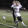 Lynn: Newburyport's Avery Cullinan controls the ball aqainst Lynnfield at Manning Field in Lynn Thursday night.The Clippers won the game 1-0.photo by Jim Vaiknoras/Newburyport Daily News. Thursday November 13, 2008.