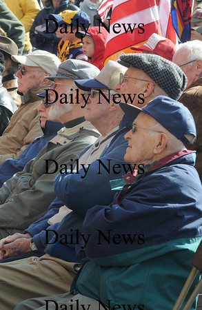 Newburyport: Some of the World War 2 veteran's honored  during the  annual Veteran's Day ceremony Tuesday at Newburyport City Hall.photo by Jim Vaiknoras/Newburyport  Daily News. Sunday November 8, 2008