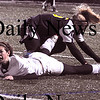 Lynn: Newburyport's Gabriela Martin gets knocked down aqainst Lynnfield at Manning Field in Lynn Thursday night.The Clippers won the game 1-0.photo by Jim Vaiknoras/Newburyport Daily News. Thursday November 13, 2008.
